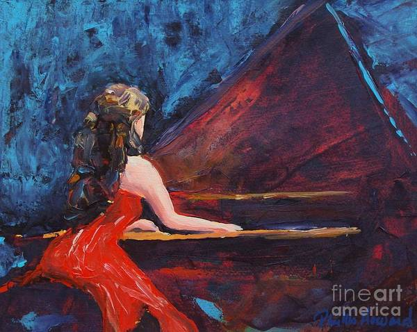Painting - Recital In Red by Phyllis Howard