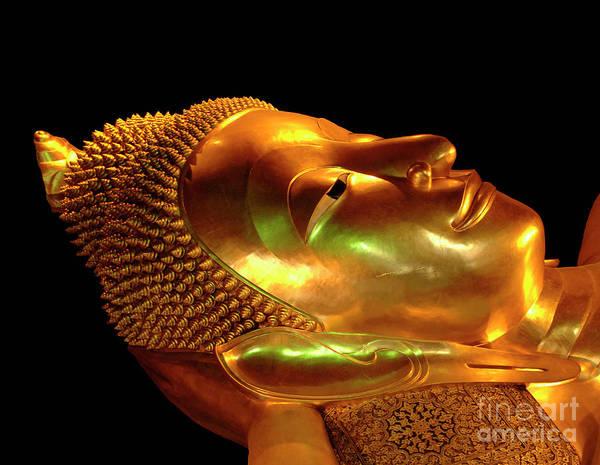 Wall Art - Photograph - Reclining Buddha Thailand 1 by Bob Christopher