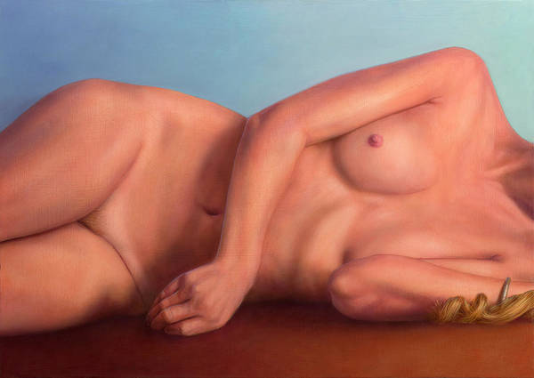 Painting - Reclining Figure - Anterior by James W Johnson