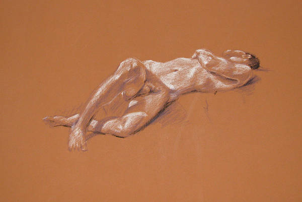 Painting - Reclining Male Nude by Christopher Reid