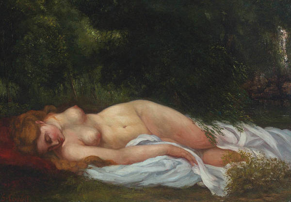 Painting - Reclining Nude by Gustave Courbet