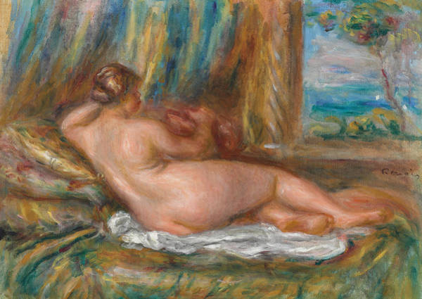 Wall Art - Painting - Reclining Nude Or Reclining Odalisque by Pierre Auguste Renoir