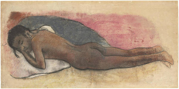 Wall Art - Drawing - Reclining Nude by Paul Gauguin