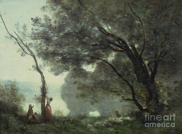 1864 Wall Art - Painting - Recollections Of Mortefontaine by Jean Baptiste Corot
