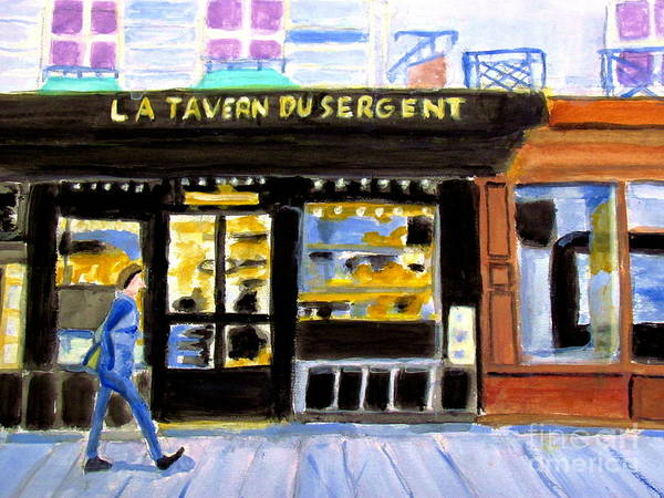 Painting - Reconnoiter Parisian Stores In Your Dreams by Stanley Morganstein