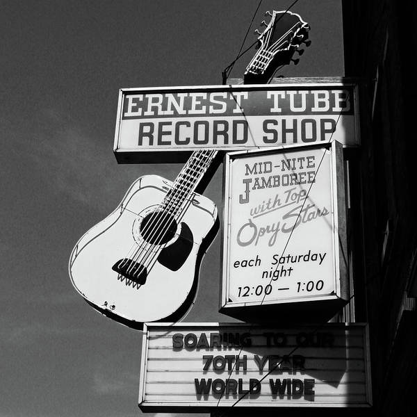 Country Music Photograph - Record Shop- By Linda Woods by Linda Woods