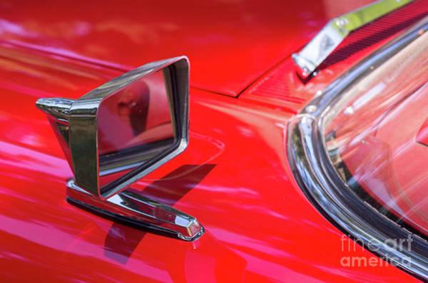 Photograph - Rectangular Car Mirror by Les Palenik