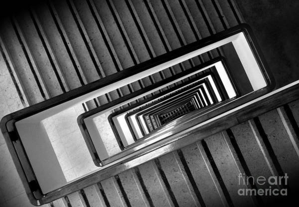 Photograph - Rectangular Spiral Staircase by Carlos Alkmin