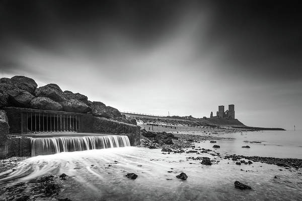 Wall Art - Photograph - Reculver Black And White by Ian Hufton