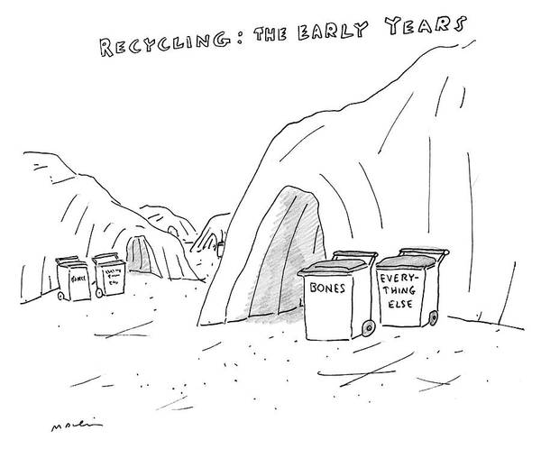 Cave Drawing - Recycling The Early Years by Michael Maslin