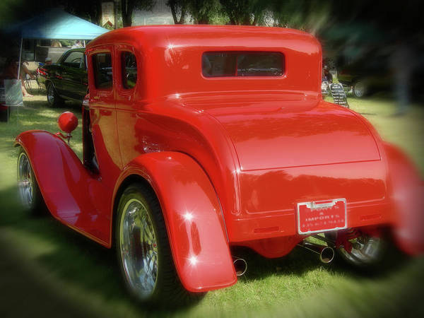 Digital Art - Red - Many Parts - Hot Rod by Gary Baird