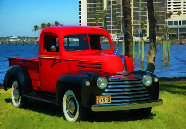 Photograph - 1946 Red Mercury Truck by Ginger Wakem