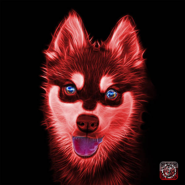 Painting - Red Alaskan Klee Kai - 6029 -bb by James Ahn