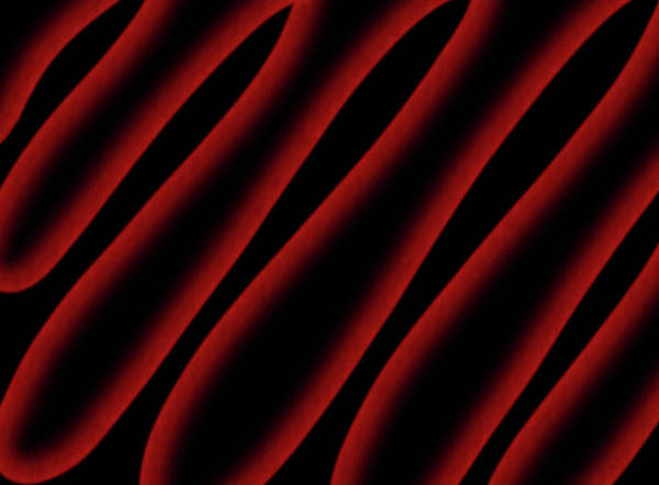 Wall Art - Mixed Media - Red And Black Abstract Waves by Lisa Stanley