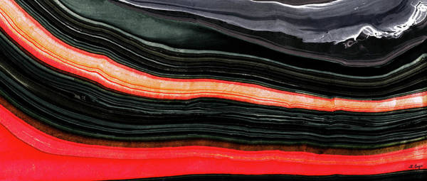 Painting - Red And Black Art - Fire Lines - Sharon Cummings by Sharon Cummings