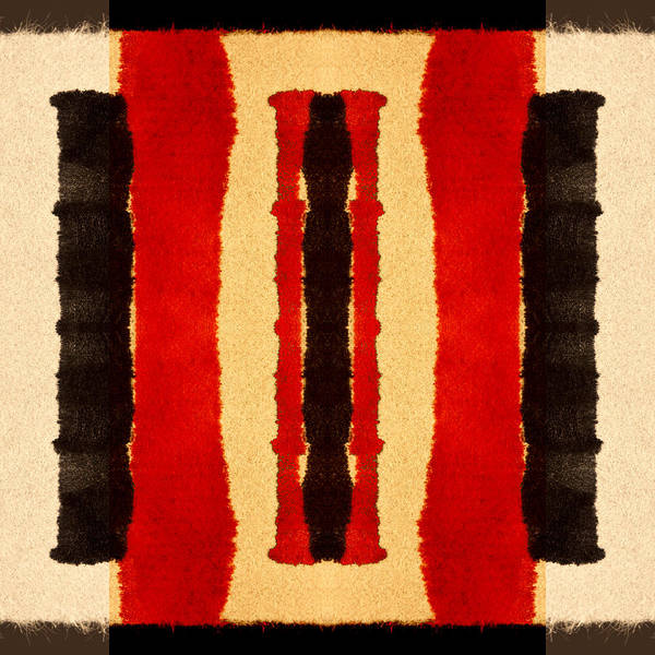 Bold Wall Art - Digital Art - Red And Black Panel Number 2 by Carol Leigh