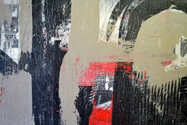 Painting - Red And Black Study 3.0 by Michelle Calkins