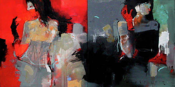Wall Art - Painting - Red And Black by Viktor Sheleg