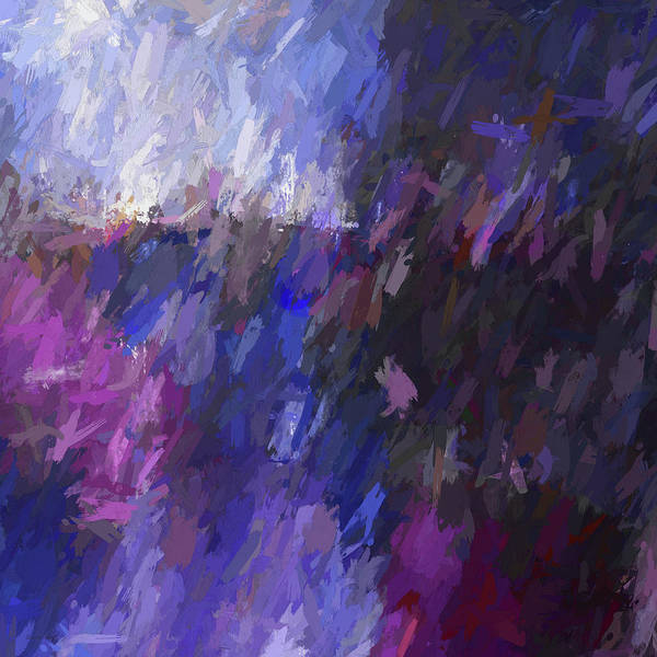 Diagonal Digital Art - Red And Blue Make Violet by David King