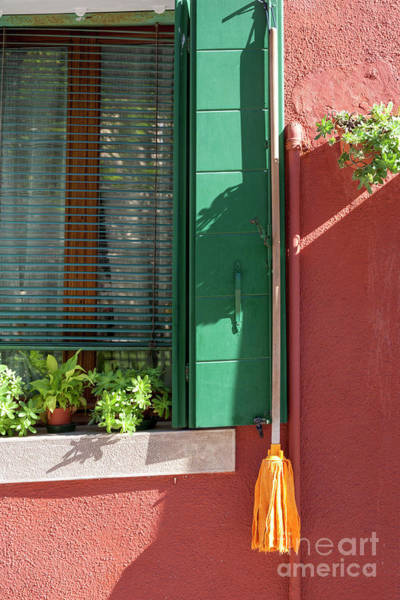 Photograph - Red And Green House On Burano by Heiko Koehrer-Wagner