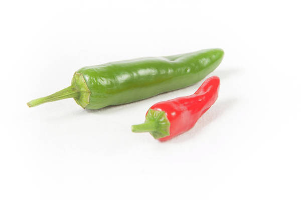 Photograph - Red And Green Jalapeno Chillie Peppers by Helen Northcott