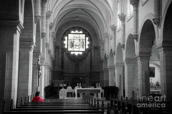 Photograph - Red And Mono, Church Of Bethlehem by Perry Rodriguez