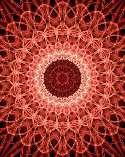 Digital Art - Red And Orange Mandala by Jaroslaw Blaminsky