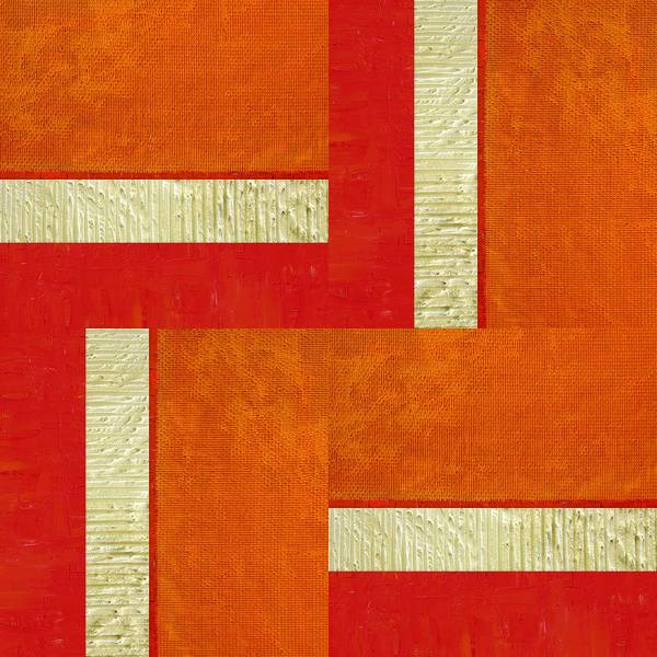 Painting - Red And Orange Square Study by Michelle Calkins