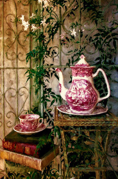 Jasmine Tea Photograph - Red And White Coffee by John K Woodruff