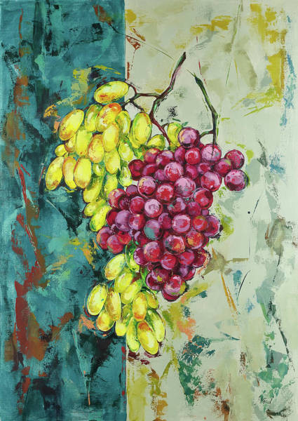 Painting - Red And White Grapes by Maria Arnaudova