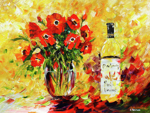 Painting - Red And White by Kevin Brown