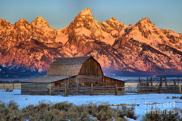 Photograph - Red And White Over Mormon Row by Adam Jewell