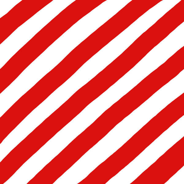 Wall Art - Digital Art - Red And White Stripes by Helen Standing