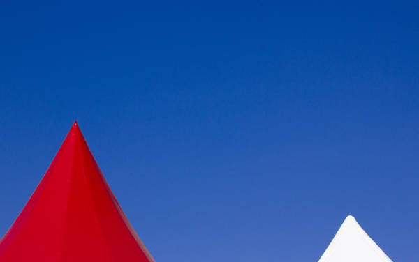 Wall Art - Photograph - Red And White Triangles by Prakash Ghai