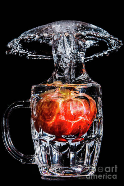 Photograph - Red Apple Splash by Ray Shiu