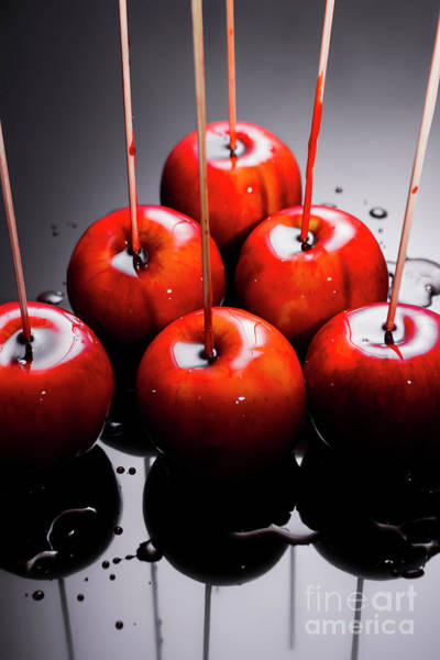 Glazed Wall Art - Photograph - Red Apples With Caramel  by Jorgo Photography - Wall Art Gallery