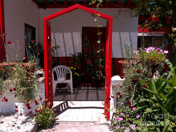 Photograph - Red Arch On Lesvos by Brenda Kean