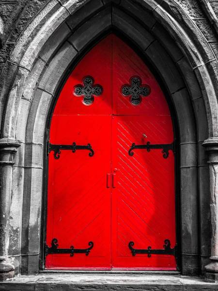 Photograph - Red Arched Door by Cate Franklyn