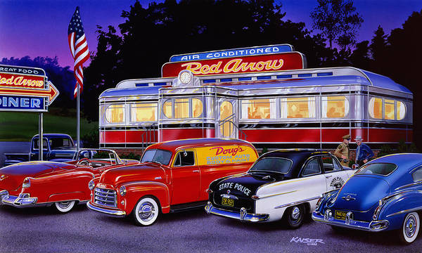 Wall Art - Photograph - Red Arrow Diner by MGL Meiklejohn Graphics Licensing