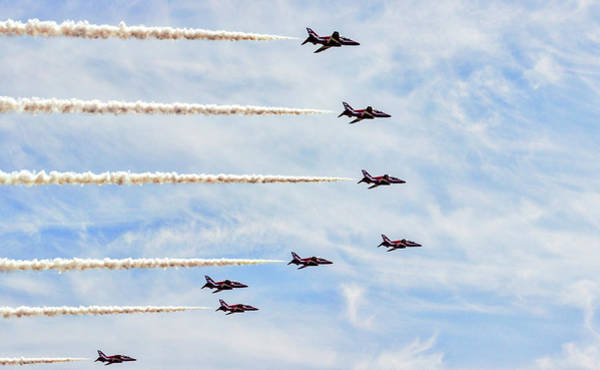 Wall Art - Photograph - Red Arrows by Angela Aird