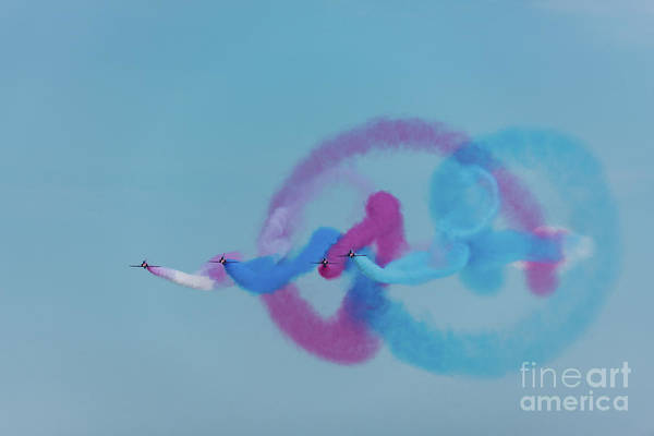 Photograph - Red Arrows Gypo Swirls by Gary Eason