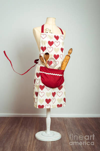 Apron Wall Art - Photograph - Red Baking Apron by Amanda Elwell