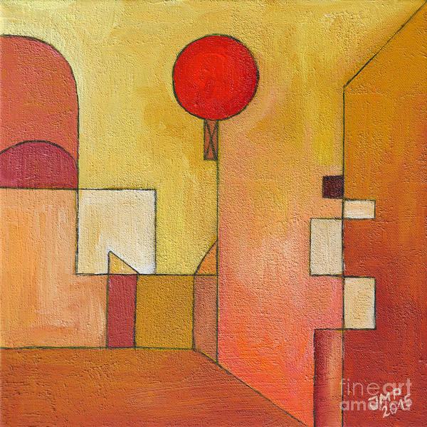 Wall Art - Painting - Red Balloon by Jutta Maria Pusl