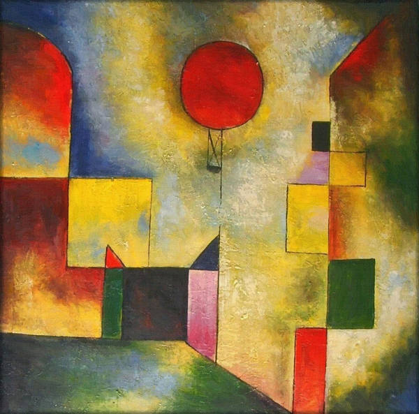 Painting - Red Balloon by Paul Klee