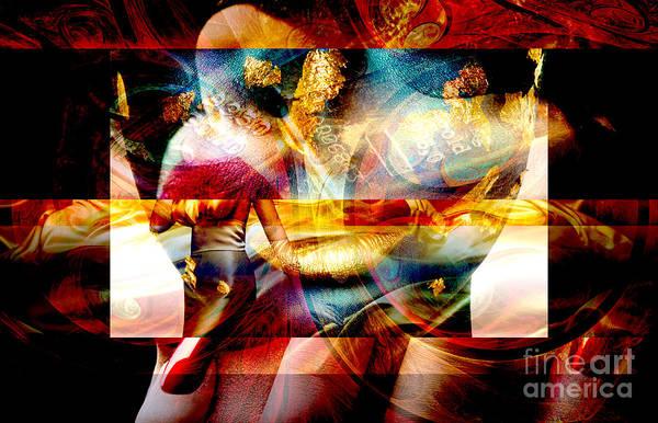 Digital Art - Red Banner by John Rizzuto
