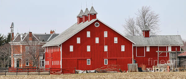 Wall Art - Photograph - Red Barn  5883 by Jack Schultz