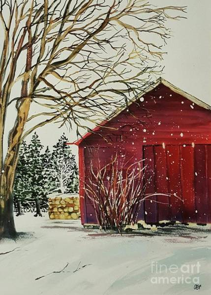 Wall Art - Painting - Red Barn by Abbe Ritchie