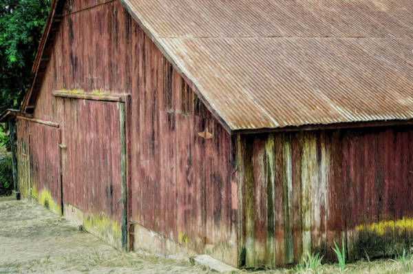 Wood Siding Wall Art - Photograph - Red Barn Artistic by Joan Carroll
