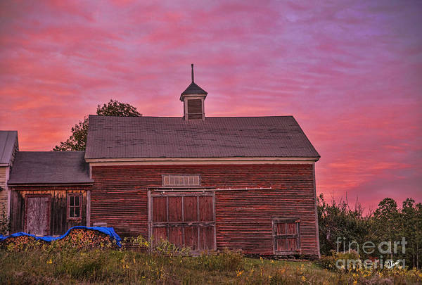 Photograph - Red Barn At Sunset by Alana Ranney