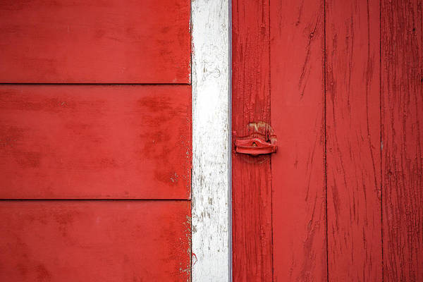 Photograph - Red Barn Boards by Todd Klassy